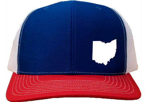Ohio Snapback Hat - Royal/White/Red