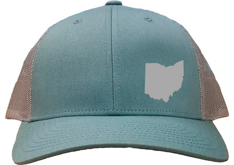 Ohio Snapback Hat - Smoke Blue/Aluminum