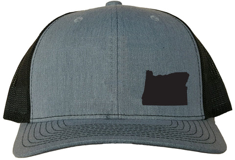Oregon Snapback Hat - Grey/Black