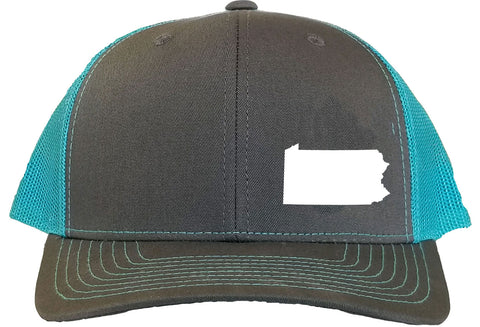 Pennsylvania Snapback Hat - Grey/Aqua