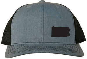 Pennsylvania Snapback Hat - Grey/Black