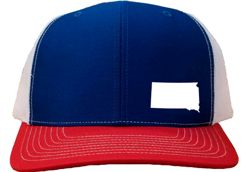 South Dakota Snapback Hat - Royal/White/Red