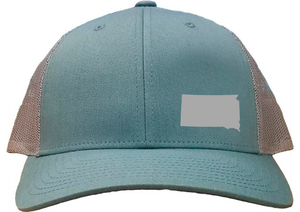 South Dakota Snapback Hat - Smoke Blue/Aluminum
