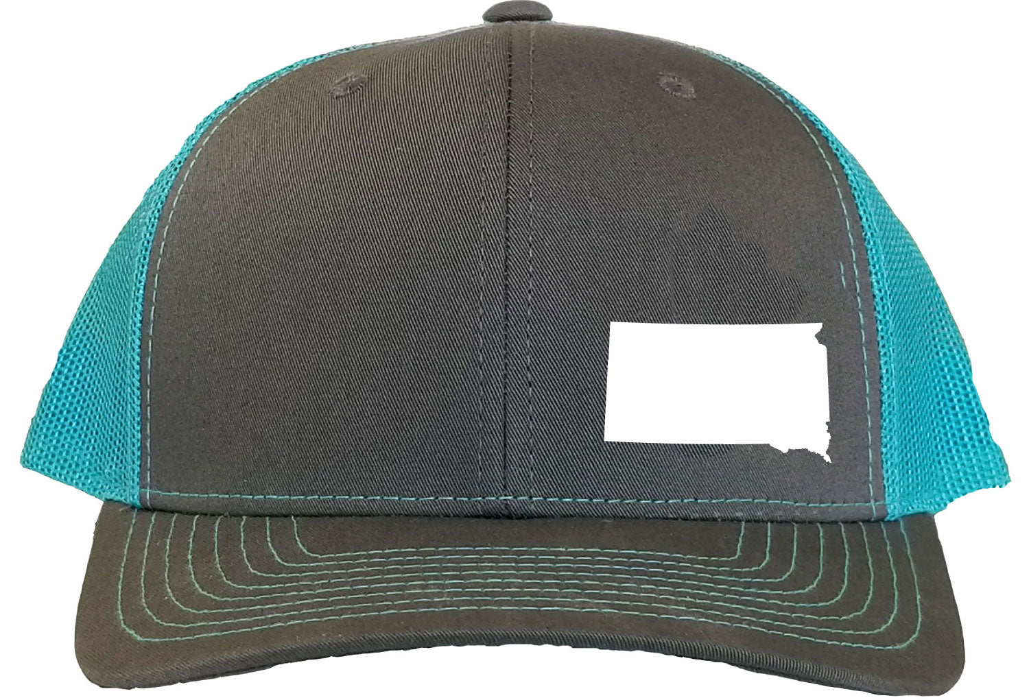 South Dakota Snapback Hat - Grey/Aqua