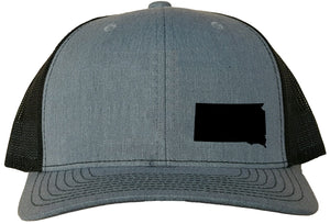 South Dakota Snapback Hat - Grey/Black