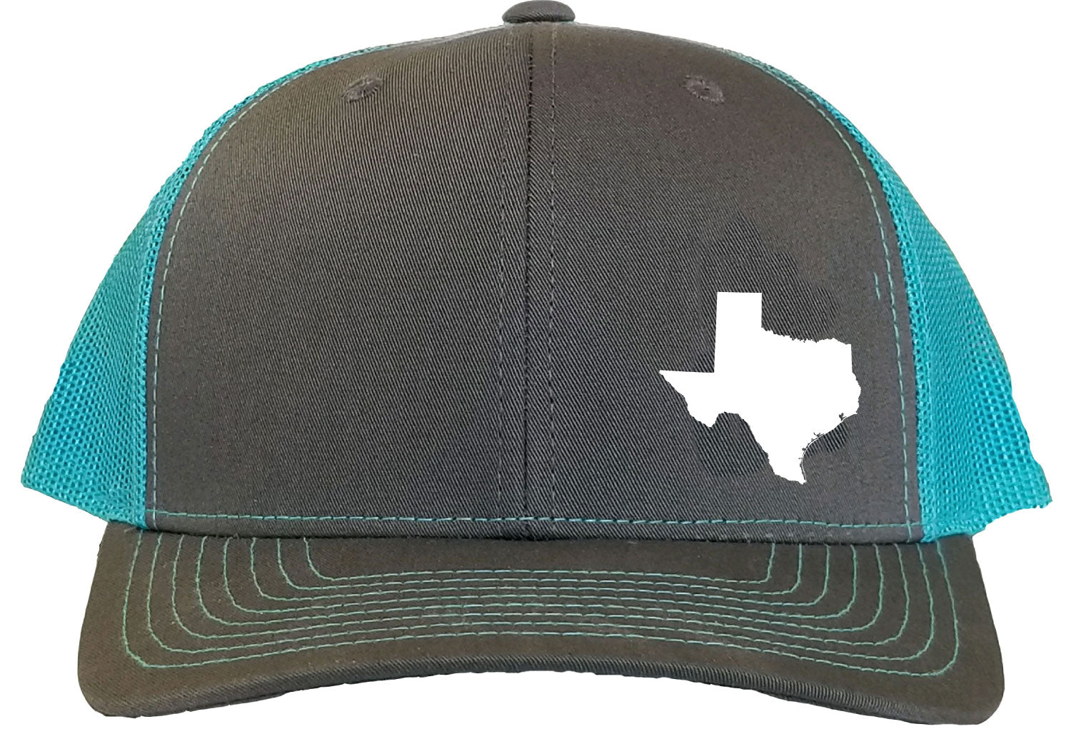 Texas Snapback Hat - Grey/Aqua