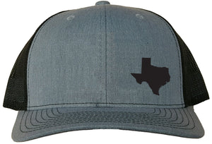 Texas Snapback Hat - Grey/Black