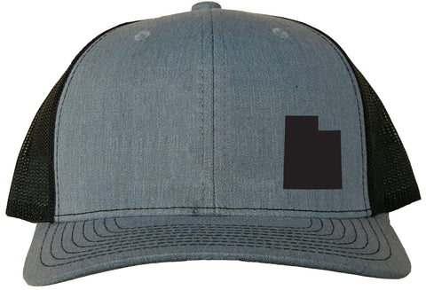 Utah Snapback Hat - Grey/Black