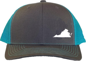 Virginia Snapback Hat - Grey/Aqua