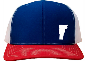 Vermont Snapback Hat - Royal/White/Red