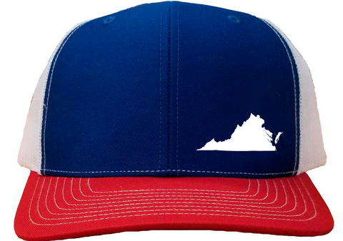 Virginia Snapback Hat - Royal/White/Red