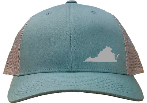 Virginia Snapback Hat - Smoke Blue/Aluminum