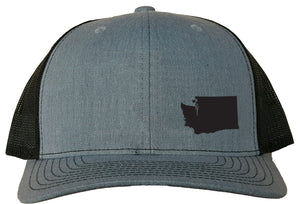 Washington Snapback Hat - Grey/Black