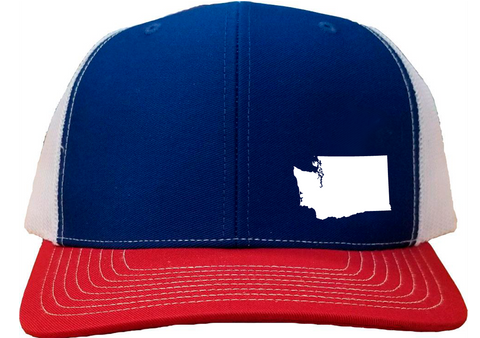 Washington Snapback Hat - Royal/White/Red