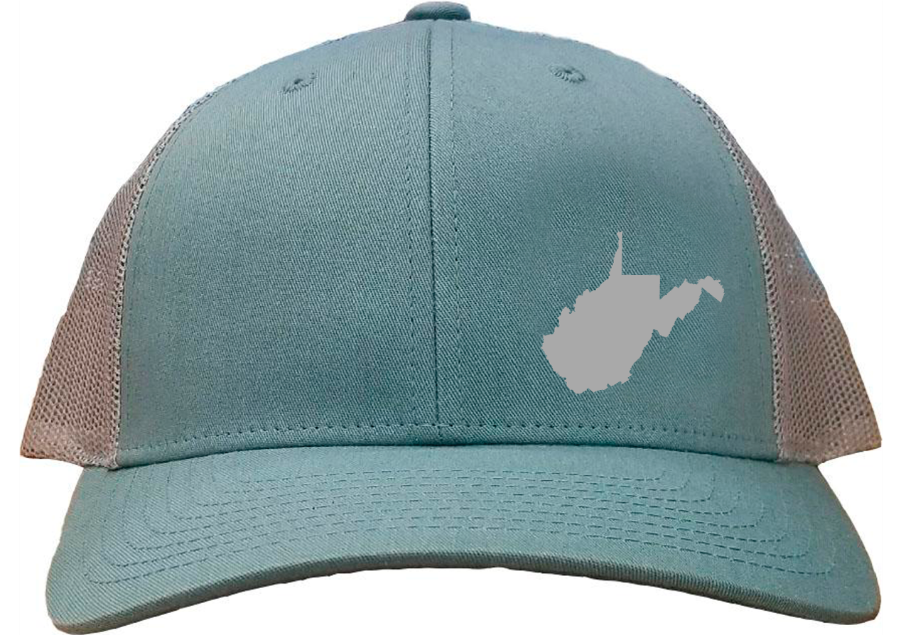 West Virginia Snapback Hat - Smoke Blue/Aluminum