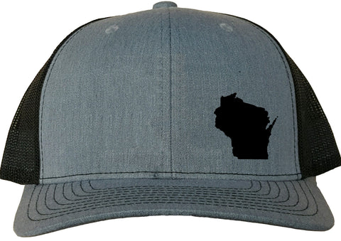 Wisconsin Snapback Hat - Grey/Black
