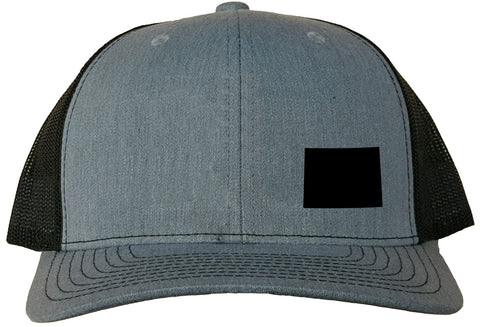 Wyoming Snapback Hat - Grey/Black