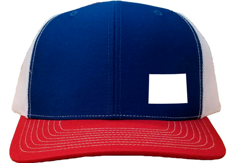 Wyoming Snapback Hat - Royal/White/Red