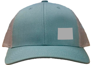 Wyoming Snapback Hat - Smoke Blue/Aluminum