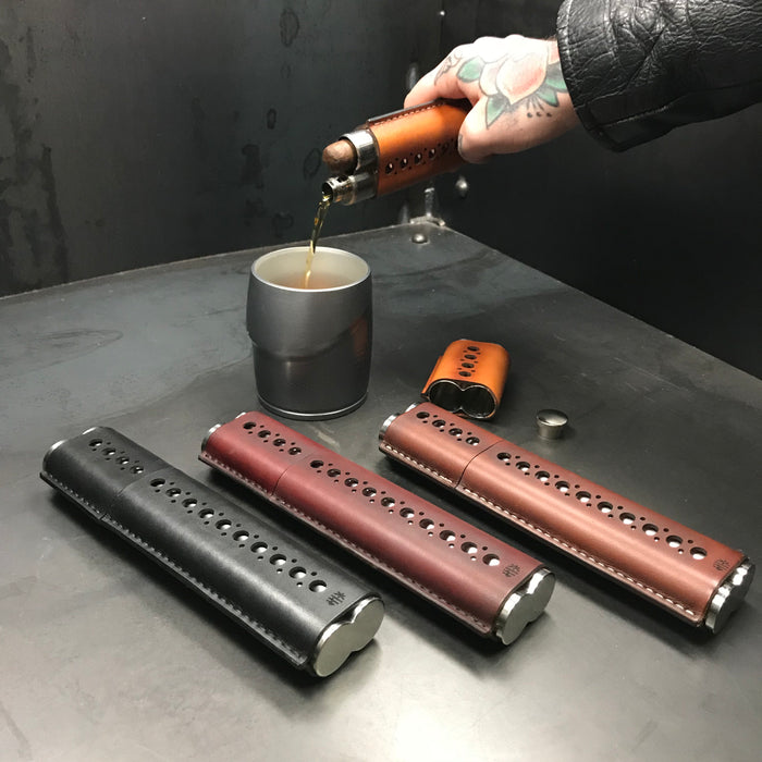 Cigar Case & Flask