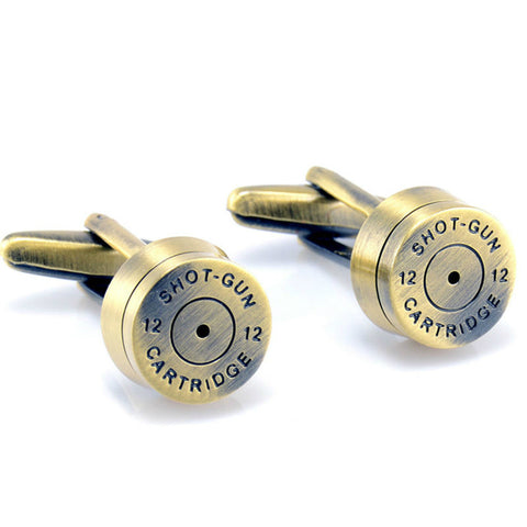Shot-Gun Cartridge Bullet Cufflinks