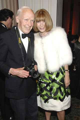 A photo of Anna Wintour, Vogue editor-in-chief and Bill Cunningham.