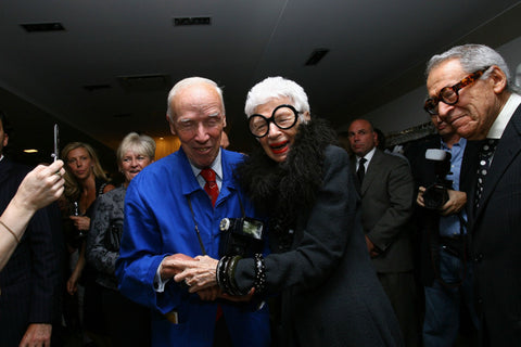Bill Cunningham and Iris Apfel photo
