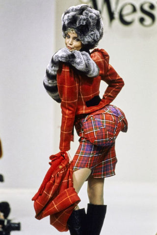 1994 Runway look inspired by 17th Century Padding Techniques by Jean Paul Gaultier.