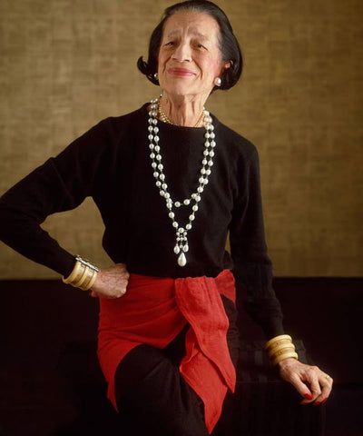 Diana Vreeland, a consultant to the Costume Institute of the Metropolitan Museum of Art in New York in 1971.