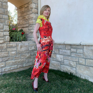 KATHRIN Women's Maxi Dress in Red Roses