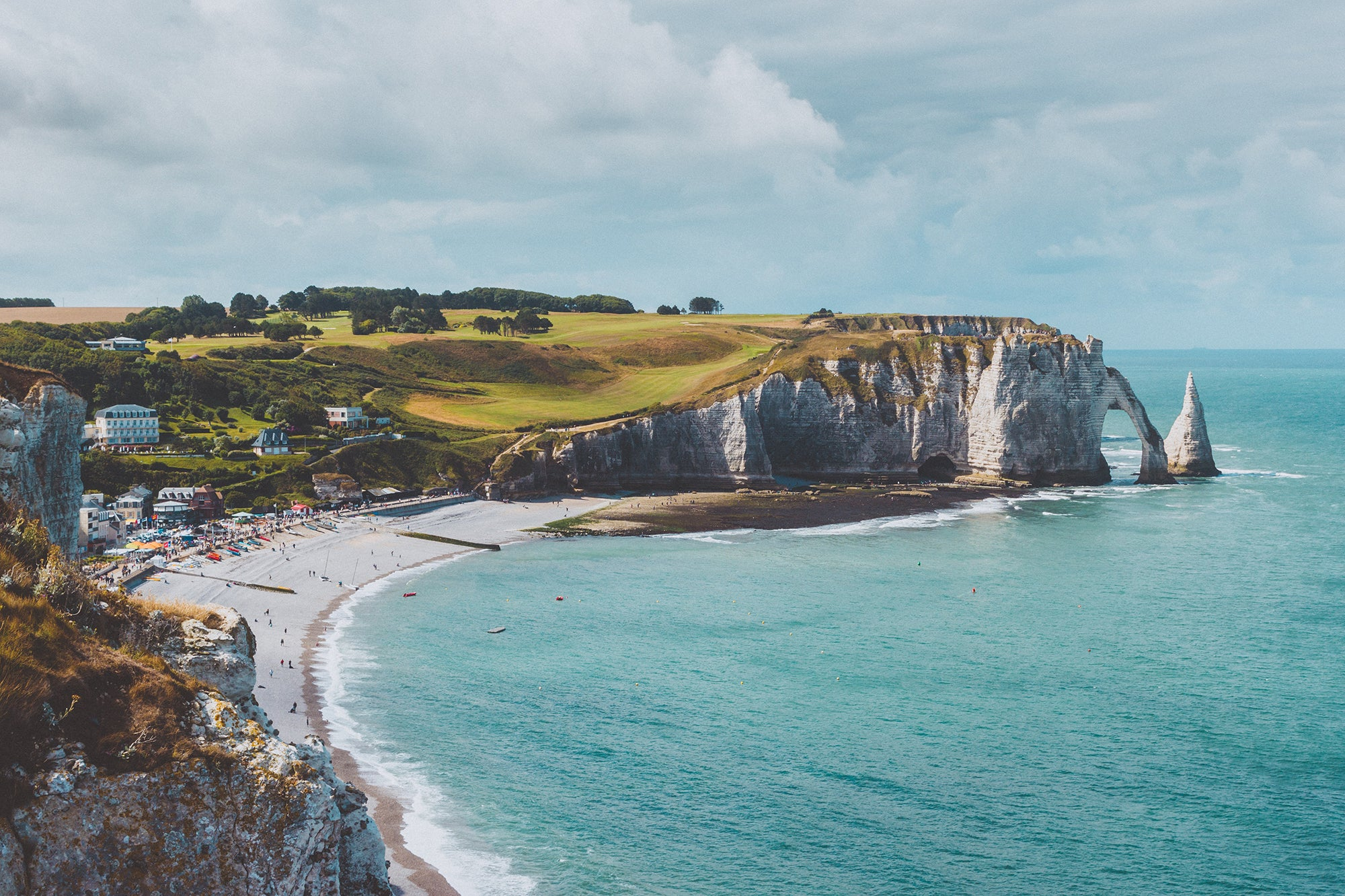 Panorama of the coast of Normandy
