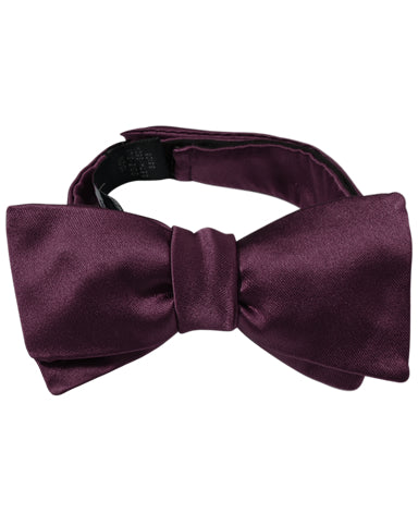 Purple silk bow tie