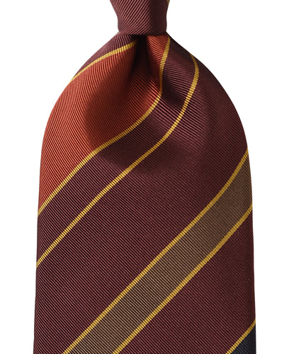 Red stripe silk tie