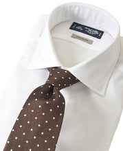 Load image into Gallery viewer, White cotton and polyester shirt with tie