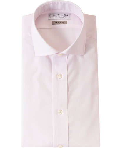 Pink cotton and plyester shirt
