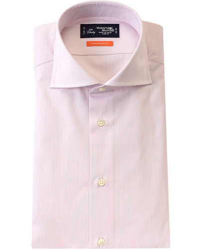 Pink check contton shirt