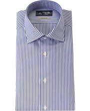 Load image into Gallery viewer, Blue stripe cotton and polyester shirt