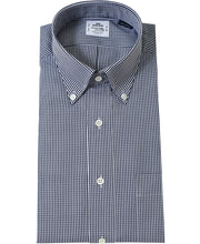 Load image into Gallery viewer, Navy check cotton shirt