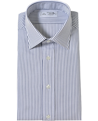 Navy stripe cotton shirt
