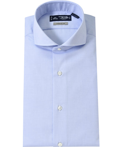 Blue cotton and polyeste shirt