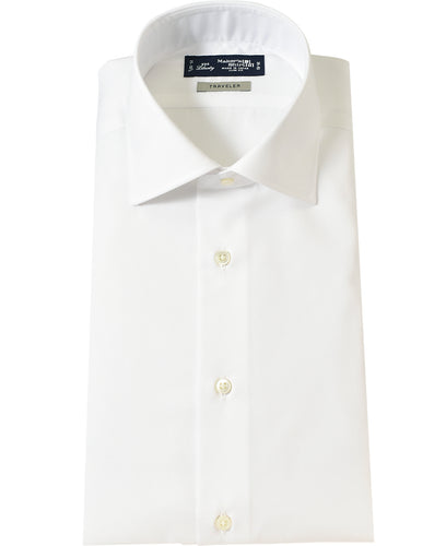 White cotton and polyester shirt