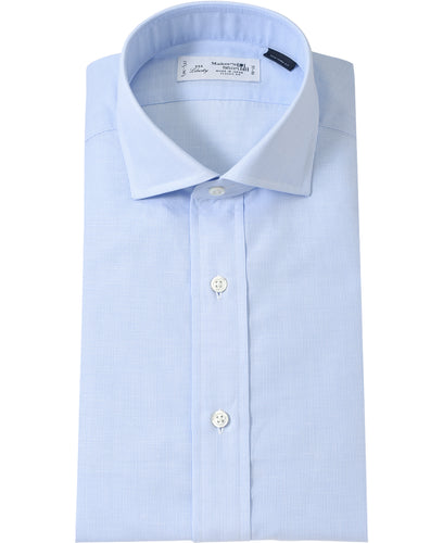 Blue cotton and linen shirt