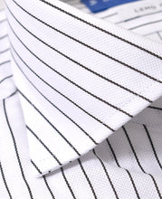 Load image into Gallery viewer, Close up of black stripe cotton shirt