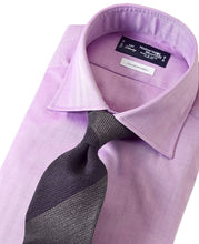 Load image into Gallery viewer, Purple cotton shirt with tie