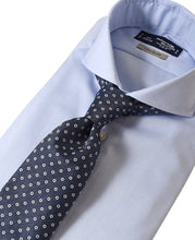 Load image into Gallery viewer, Blue cotton and polyester shirt with tie