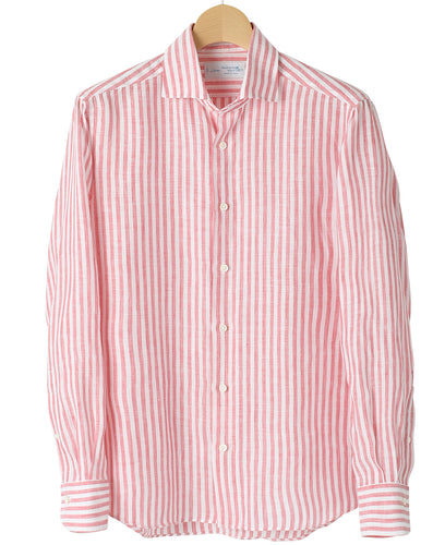 Red stripe linen shirt