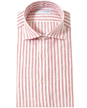 Load image into Gallery viewer, Red stripe linen shirt