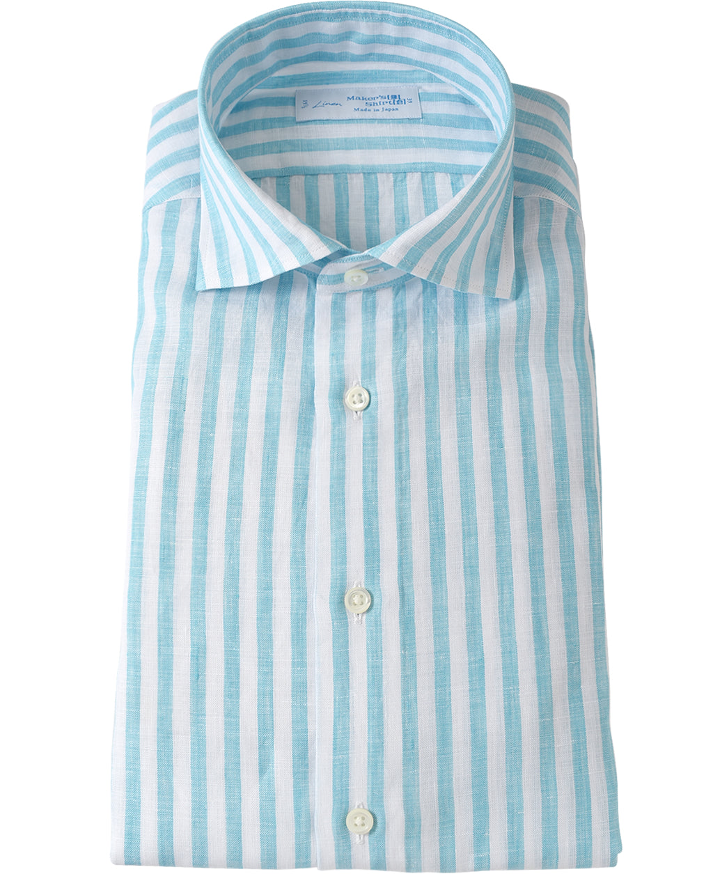 Blue stripe linen shirt