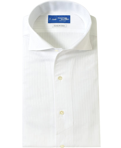 White cotton and linen shirt
