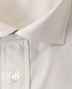Close up of beige cotton shirt